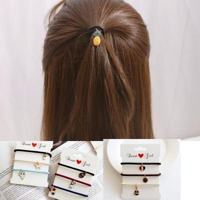 Hera 赫拉金屬琺瑯氣質風髮圈/髮束-三件組