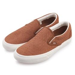 (男)VANS Classic Slip-On 潮流編織休閒懶人鞋*咖啡色
