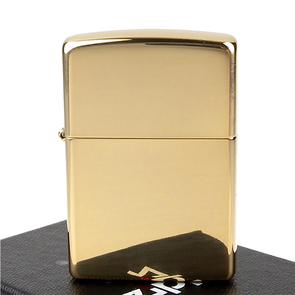 ZIPPO美系-Solid Brass~純銅高磨光金色鏡面