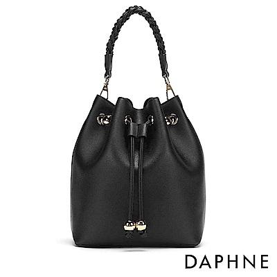 達芙妮DAPHNE-扭結造型子母水桶兩用包-黑