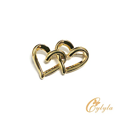Cylyla思琳娜 施華洛世奇元素心心相印水晶胸針B11155 @ Y!購物