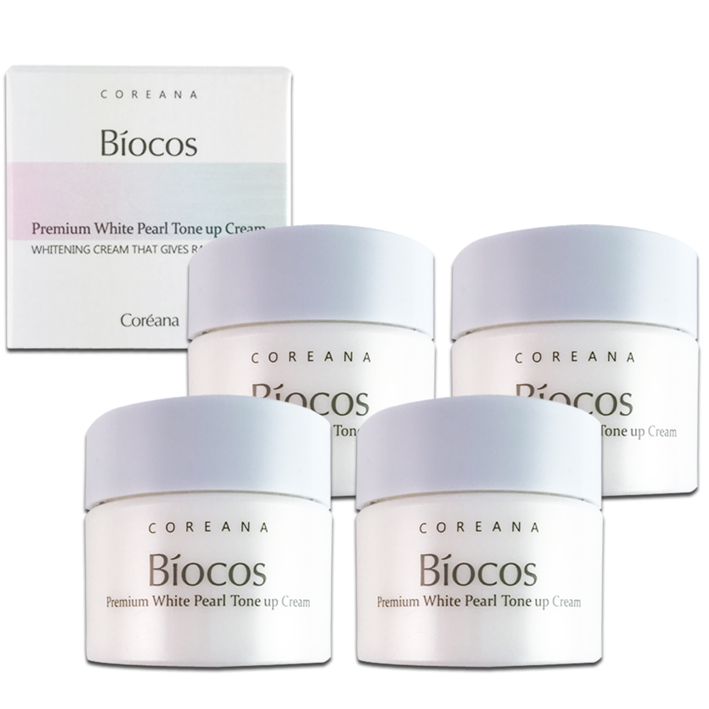 韓國BIOCOS COREANA 珍珠素顏霜10g (4入)