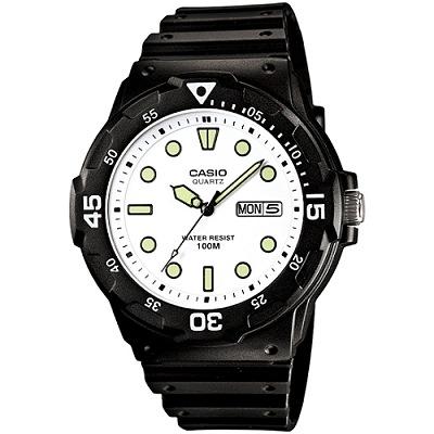 CASIO 魅力潛水風格型男腕錶(MRW-200H-7E)-白面/47mm