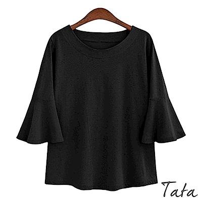 五分袖素面上衣 共二色 TATA