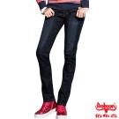 BOBSON 女款熱感IN小直筒牛仔褲(藍52)