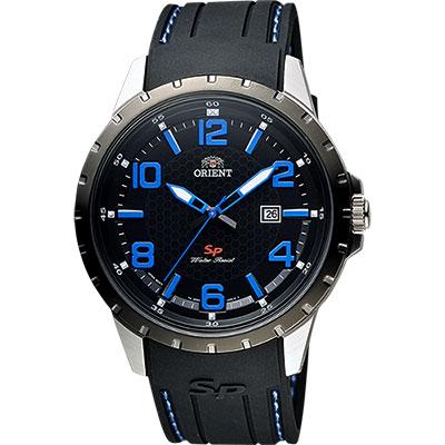 ORIENT 東方錶 SP 系列 冒險家運動石英錶-黑x藍時標/44mm