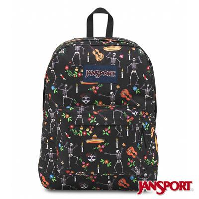 JanSport -SUPERBREAK系列校園後背包 -趣味亡靈節