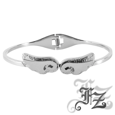 FZ  天使羽翼白鋼手環(銀色)