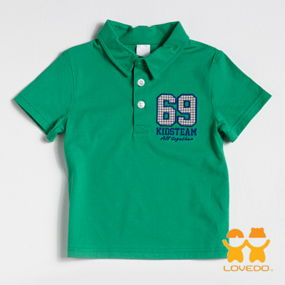 【LOVEDO艾唯多童裝】運動球員69號 潮流短袖Polo衫 (綠)