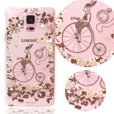 KnowStar 三星 Galaxy Note4 奧地利水晶彩繪手機鑽殼-公爵兔