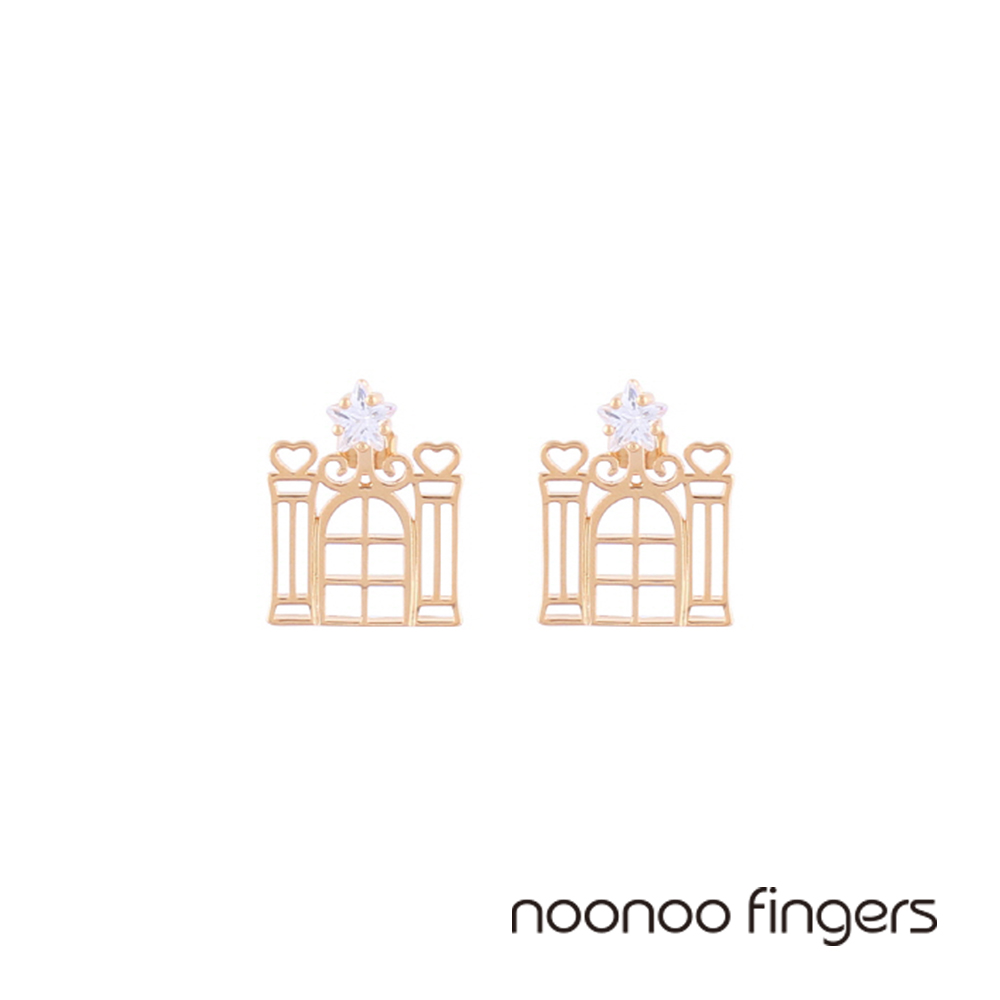 Noonoo Fingers Mirror Room Earring 鏡間 水鑽 耳環