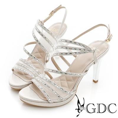 GDC閃耀-水鑽環繞細高跟涼鞋-金色