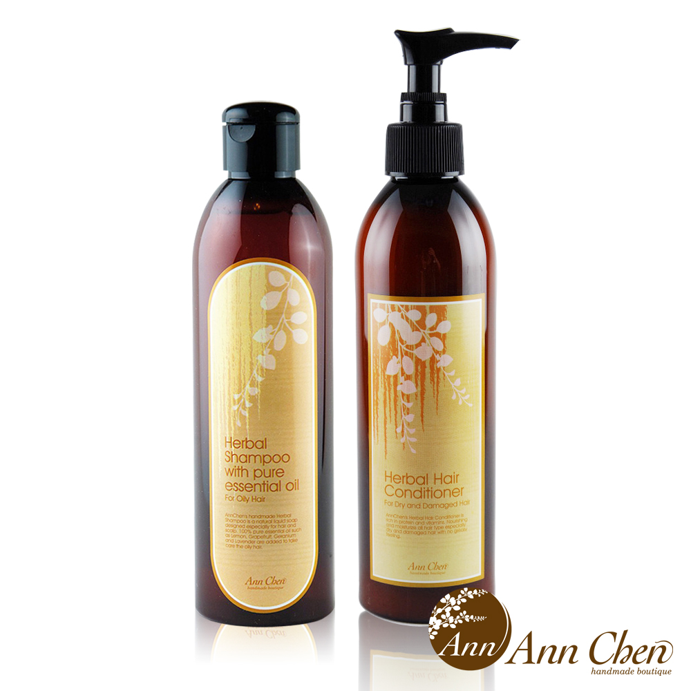 陳怡安手工皂-深層控油髮質洗潤2入組(洗髮液態皂+滋養護髮乳)