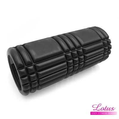 瑜珈柱EVA瑜珈滾筒按摩滾筒-LOTUS-黑色