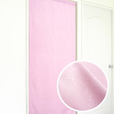 布安於室-似桂冠葉遮光壓紋長門簾-粉紅