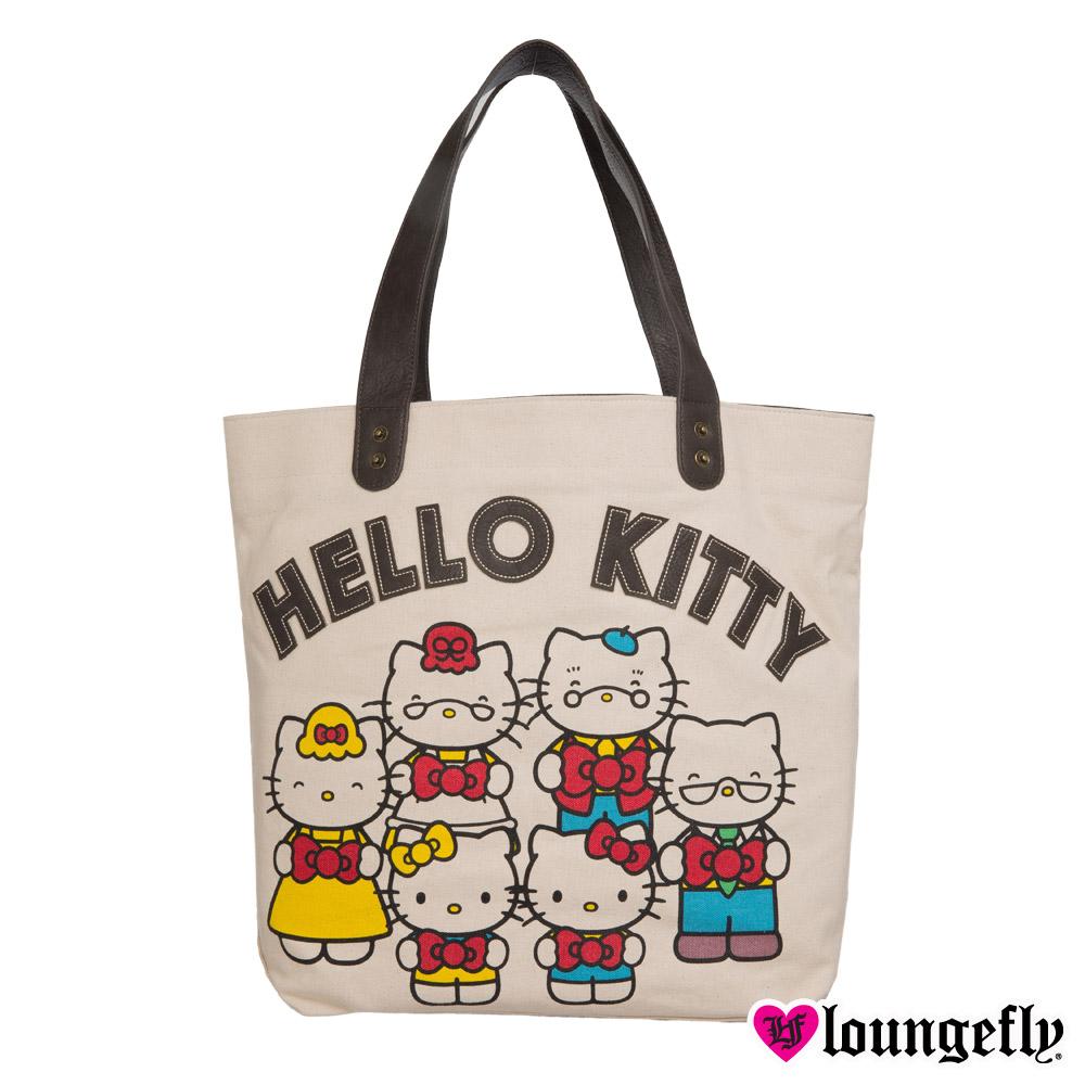 Loungefly-Hello Kitty肩背手提包-家族LFSANTB1404