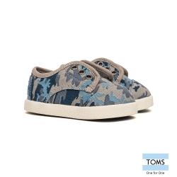 TOMS 帆布迷彩懶人鞋-幼童款