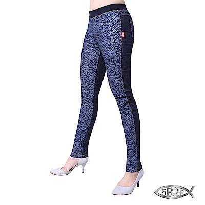 5B2F 五餅二魚 豹紋單寧褲