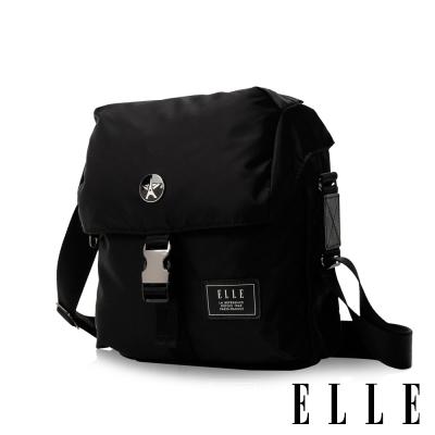 ELLE HOMME精湛優雅紳士風範可置物iPad極致高質感直式掀蓋休閒側背包