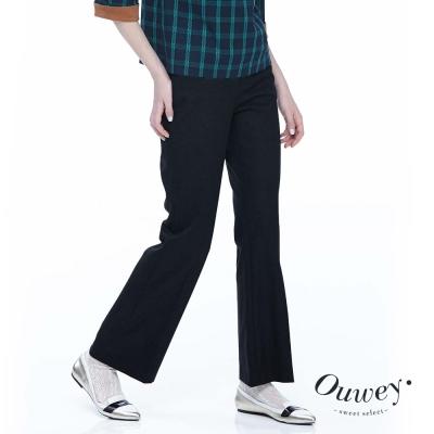 OUWEY歐薇-都會俐落直筒西裝褲-黑