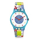 Swatch 英倫風情 QUILTED TIME 繽紛野餐手錶