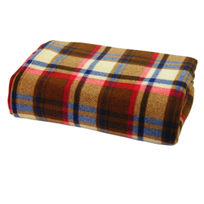 [快]onemall.99雙面超細纖袖毯-蘇格蘭