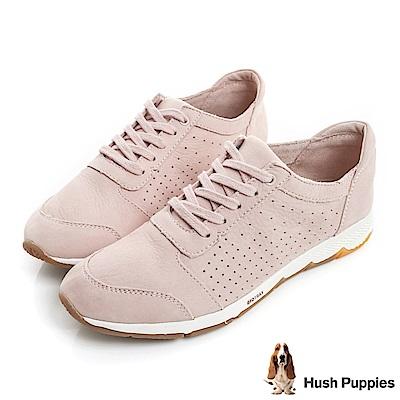 Hush Puppies CESKY 綁帶機能健走鞋-粉紅色
