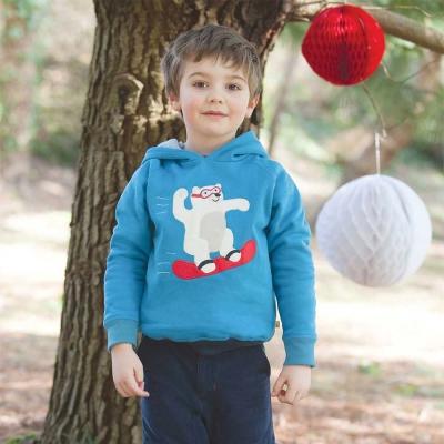 Frugi 有機棉藍色北極熊上衣