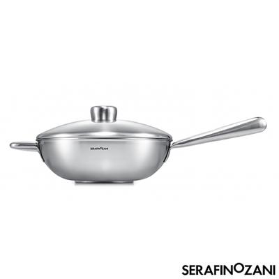 SERAFINO ZANI 恆溫系列長柄中式不鏽鋼炒鍋28cm