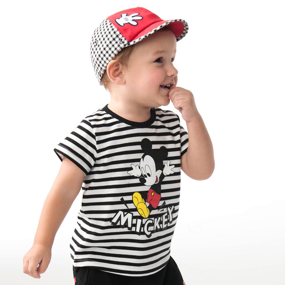 Disney baby米奇系列歡樂跳躍條紋上衣 (2色可選)