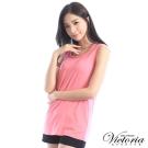 Victoria 領編織肩帶變化背心-女-珊瑚粉