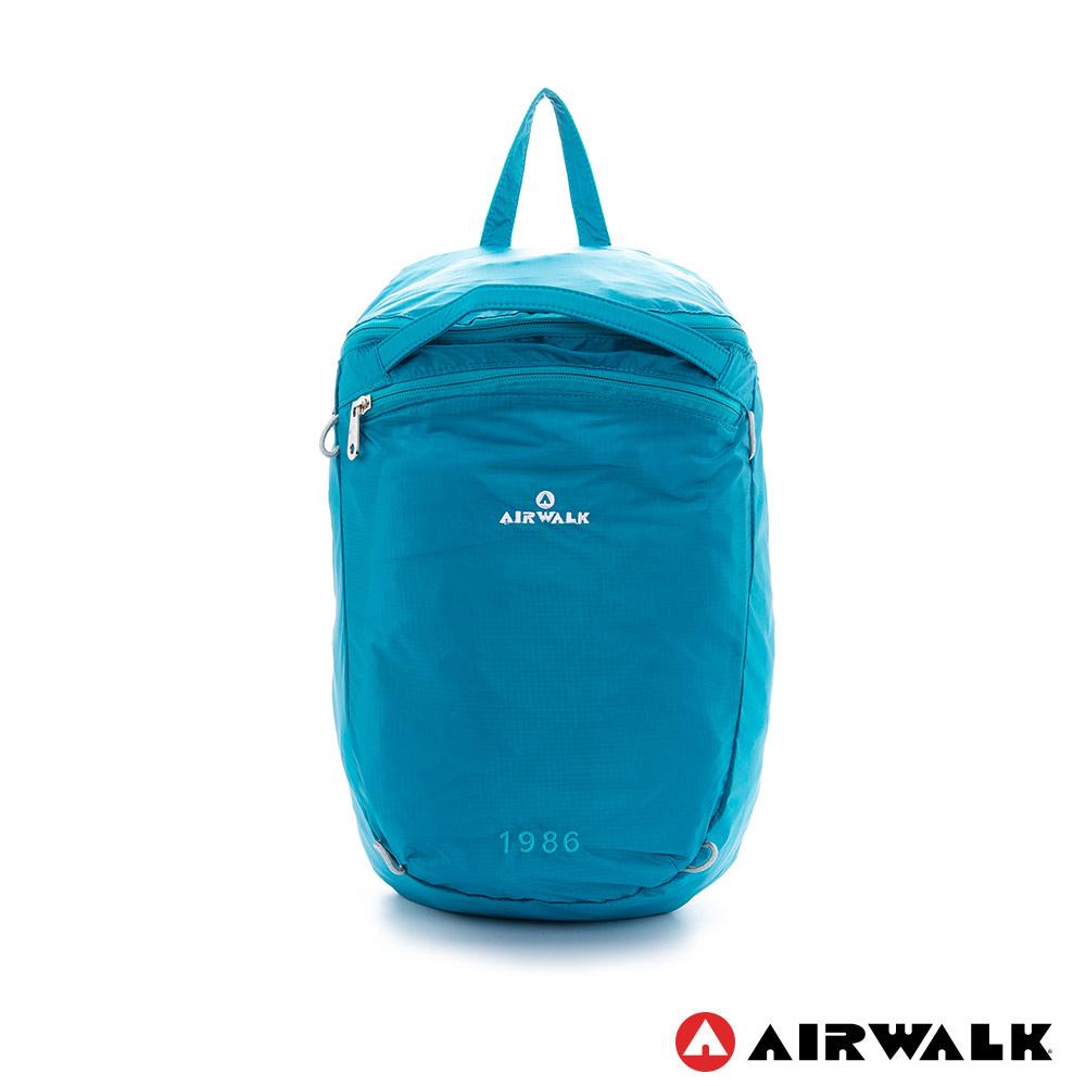 AIRWALK- 完美的一天 風衣式隨行輕量春捲小後背包-TIFFANY藍