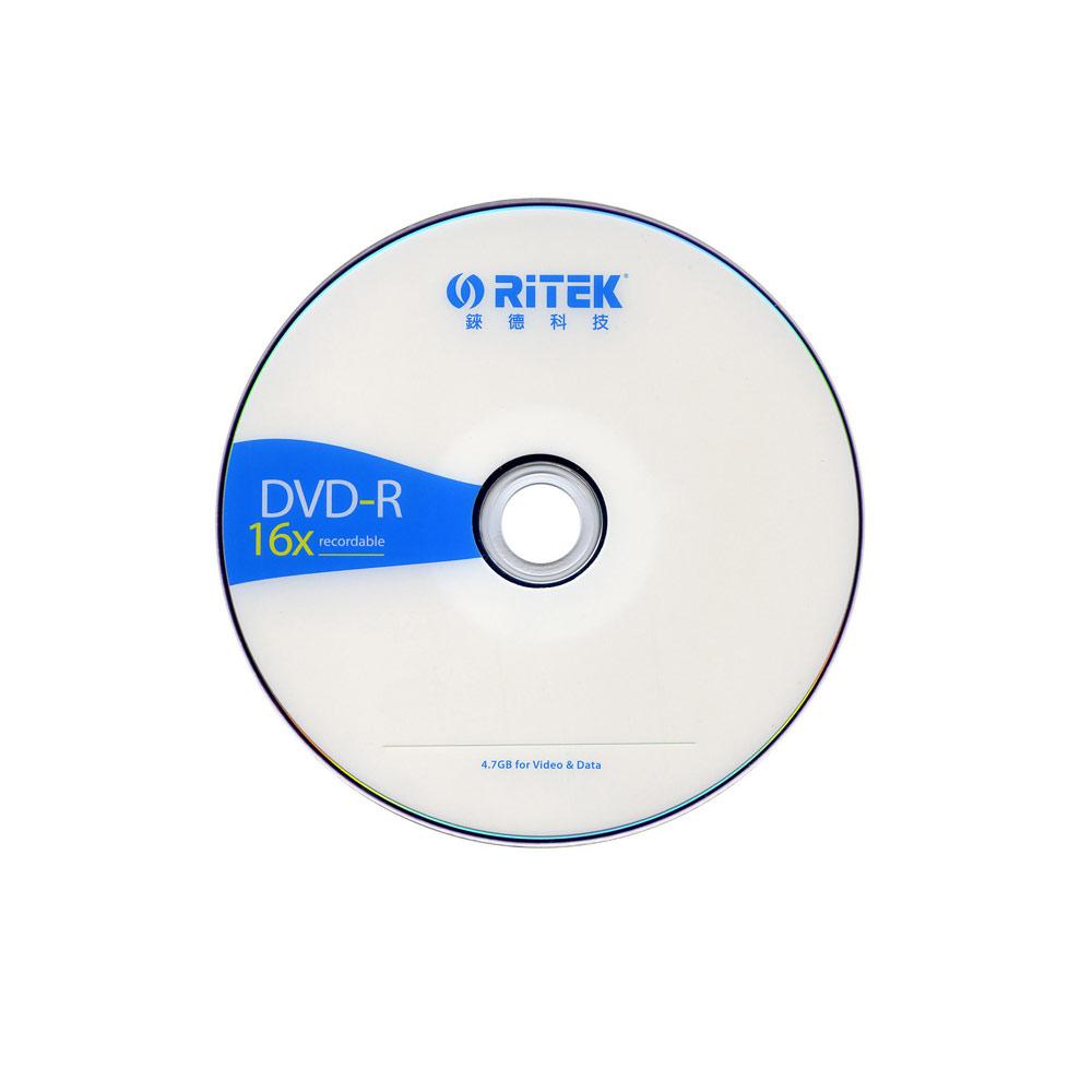 『50片』RiTEK錸德 16X DVD-R 簡約版 燒錄片/光碟片(裸裝)
