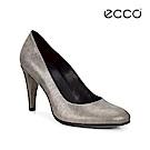ECCO SHAPE 75 SLEEK 優雅細跟正式跟鞋-銀灰