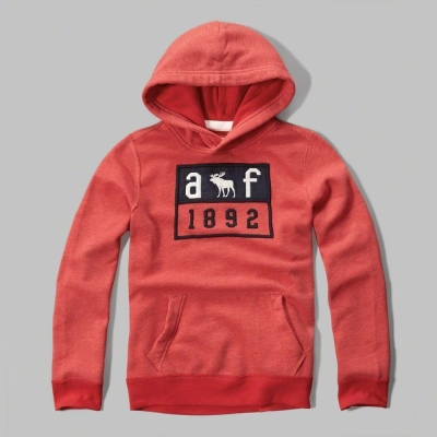 AF a&f Abercrombie & Fitch 小孩帽T 紅色 0298