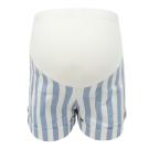 【ohoh-mini 孕婦裝】熱情海洋條紋反折孕婦短褲