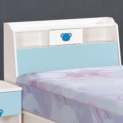 品家居-粉藍寶貝3-5尺單人床頭箱