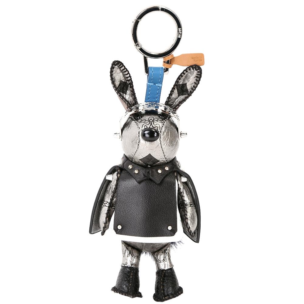 MCM RABBIT 太空飛行造型兔子鑰匙圈/吊飾(黑x銀色)