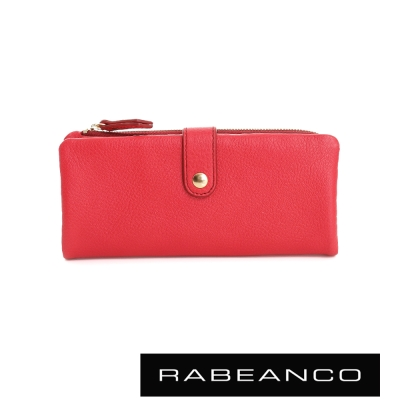 RABEANCO 迷時尚系列多格層拉鍊長夾 - 石榴紅