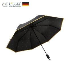 德國kobold酷波德 抗UV旋轉芭蕾系列-超輕巧-隱藏傘珠-遮陽防曬三折傘-曜石黑