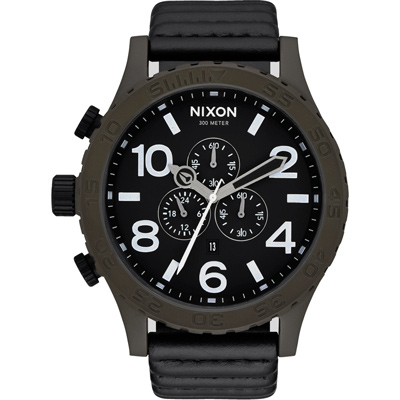 NIXON 51-30 CHRONO LEATHER 潛龍諜影運動腕錶-A124/51mm