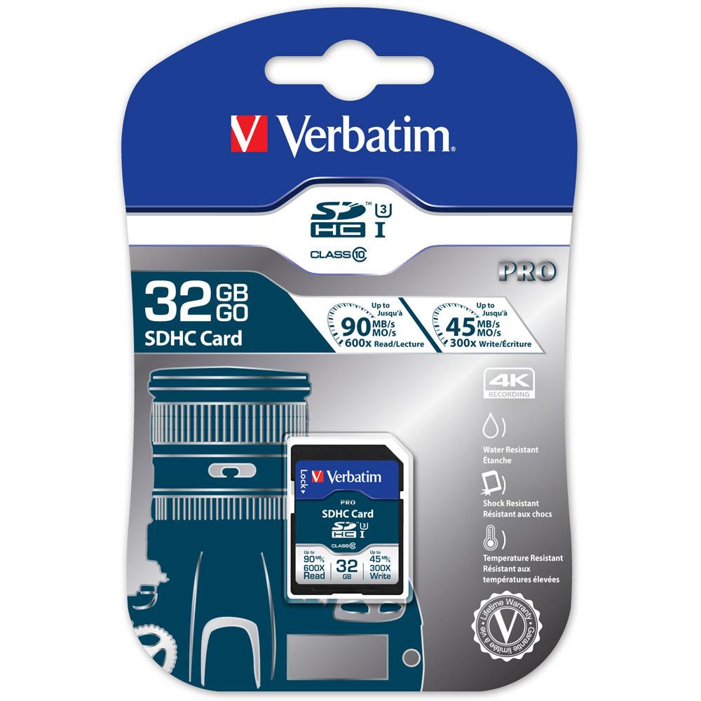 Verbatim 威寶 32GB MLC PRO 600X SDHC UHS-3高速記憶卡