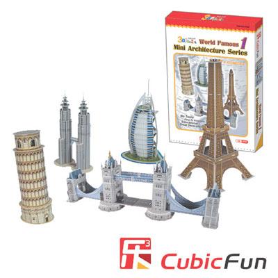 Cubic Fun 智慧3D立體拼圖『迷你建築系列一』