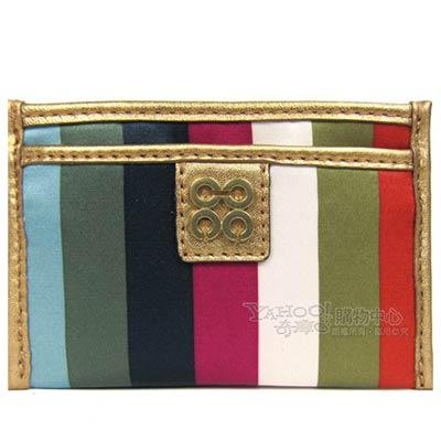 COACH JULIA 彩色緞布名片卡夾