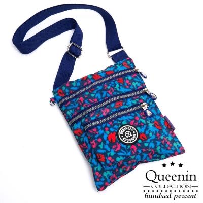 DF Queenin日韓 - 日系輕盈尼龍休閒系隨身側背手機包-共5色