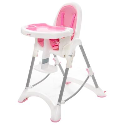 myheart 折疊式兒童安全餐椅 - 蜜桃粉