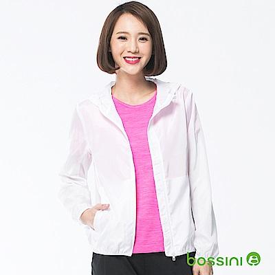 bossini女裝-多功能輕便風衣白