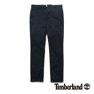 Timberland-男款寶藍色反折休閒長褲
