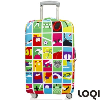 LOQI 行李箱套│奧運會【S 號】適用21吋以下行李箱