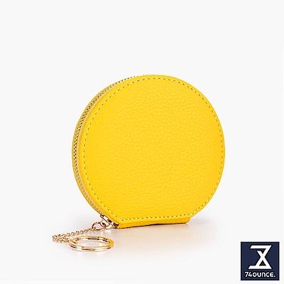 74盎司 多色馬卡龍圓形零錢包[LN-715]黃
